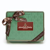 Pearl Green Tin with Thank You Ribbon