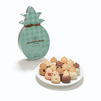 Pineapple Shape Box (Ultimate Collection) with cookies