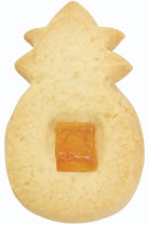 Pineapple Macadamia Shortbread Cookie